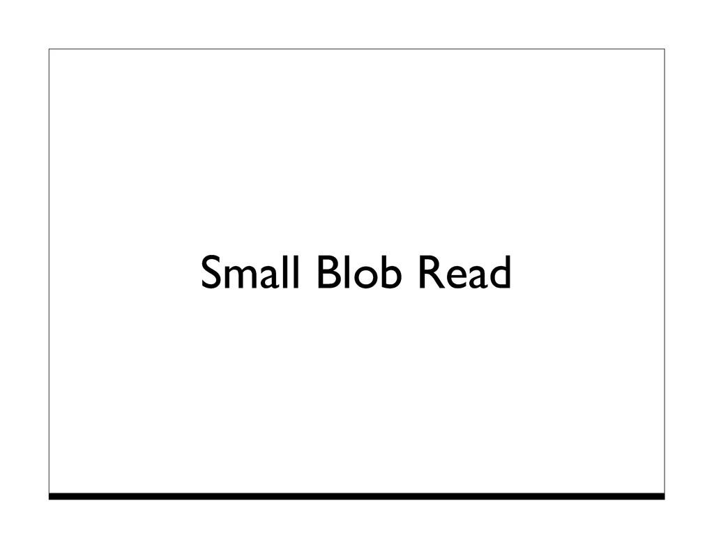 Small Blob Read