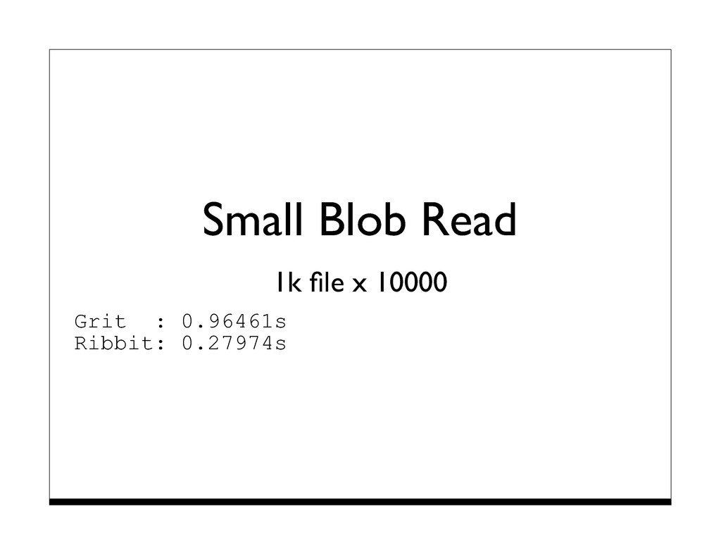 Small Blob Read 1k file x 10000 Grit : 0.96461s ...
