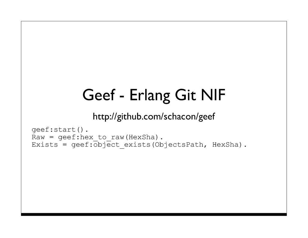 Geef - Erlang Git NIF http://github.com/schacon...