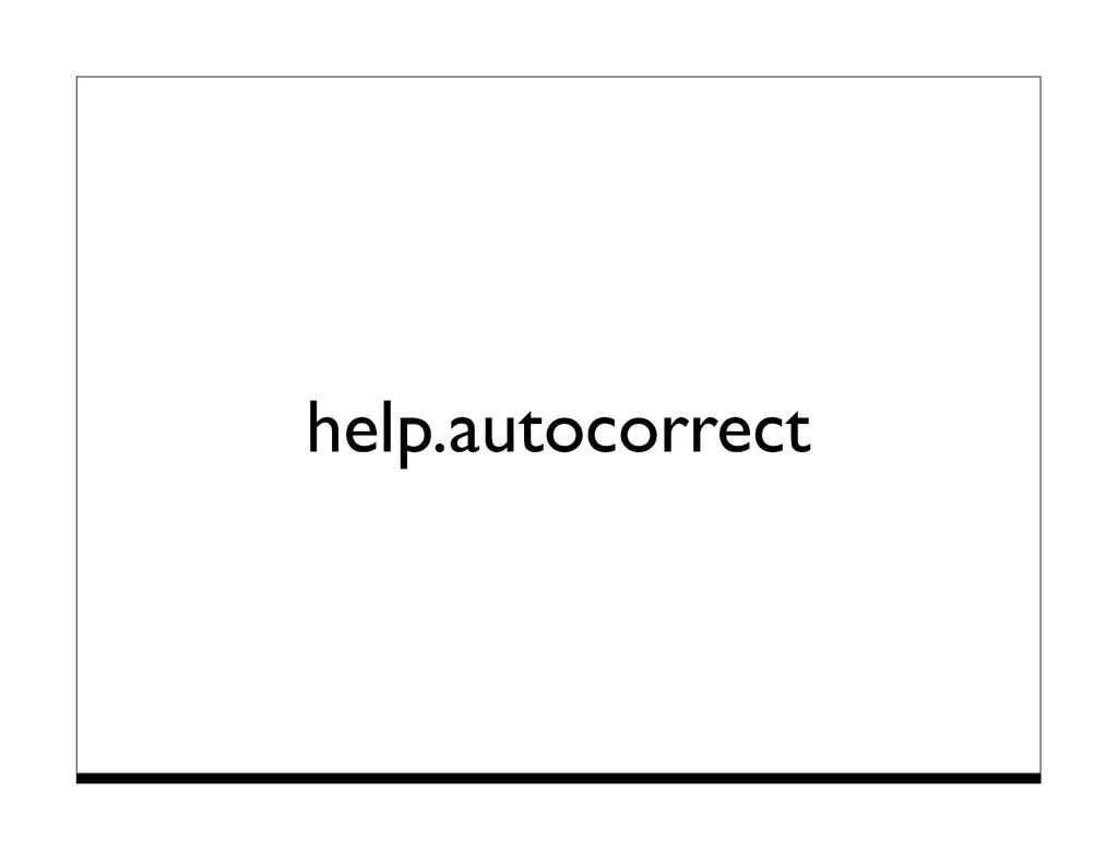 help.autocorrect
