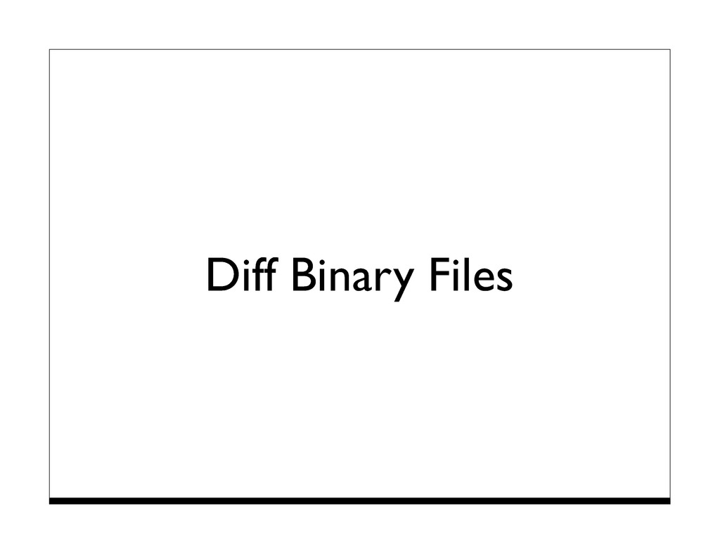 Diff Binary Files