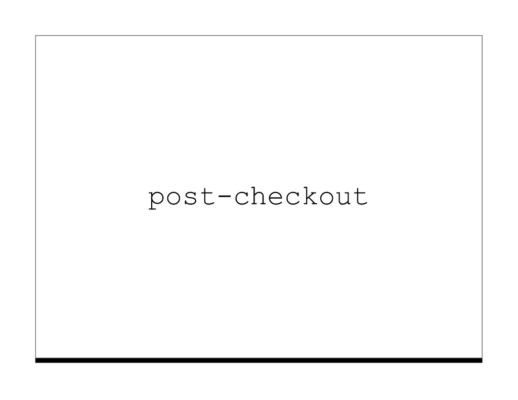 post-checkout