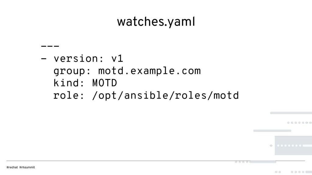 watches.yaml --- - version: v1 group: motd.exam...