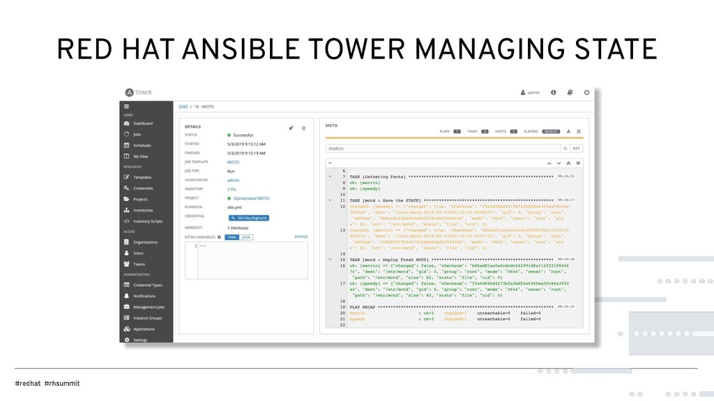 RED HAT ANSIBLE TOWER MANAGING STATE