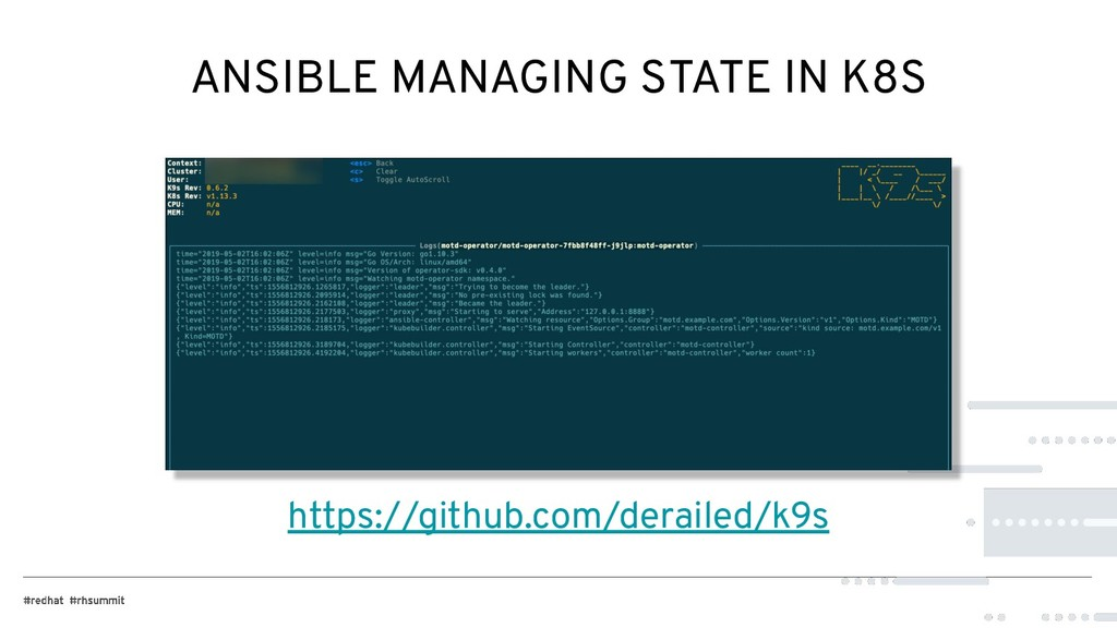 ANSIBLE MANAGING STATE IN K8S https://github.co...