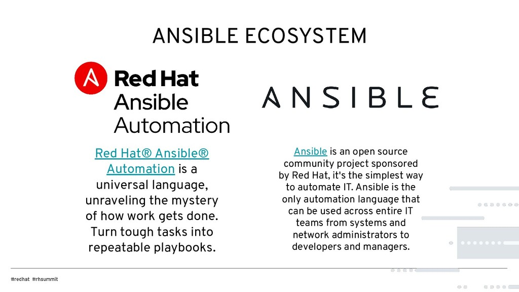 ANSIBLE ECOSYSTEM Red Hat® Ansible® Automation ...