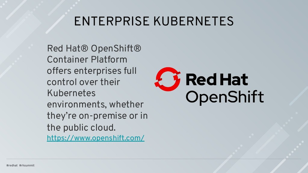 ENTERPRISE KUBERNETES Red Hat® OpenShift® Conta...