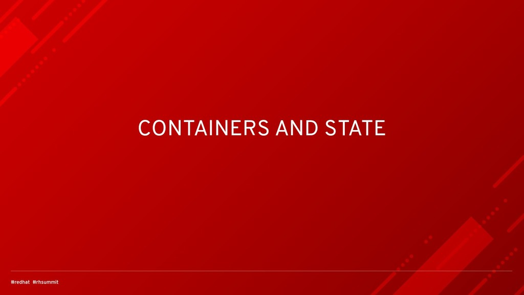 CONTAINERS AND STATE