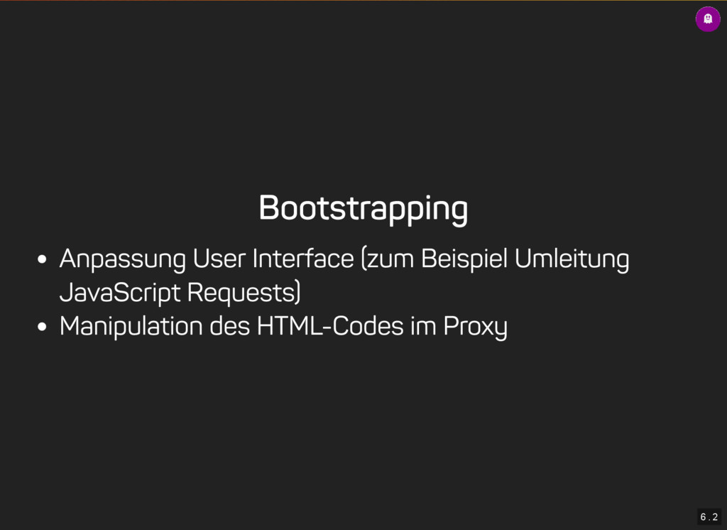 6 . 2 Bootstrapping Anpassung User Interface (z...