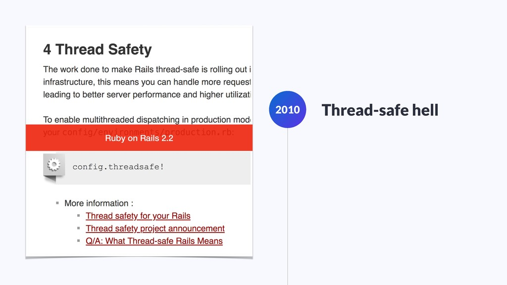 2010 Thread-safe hell Ruby on Rails 2.2