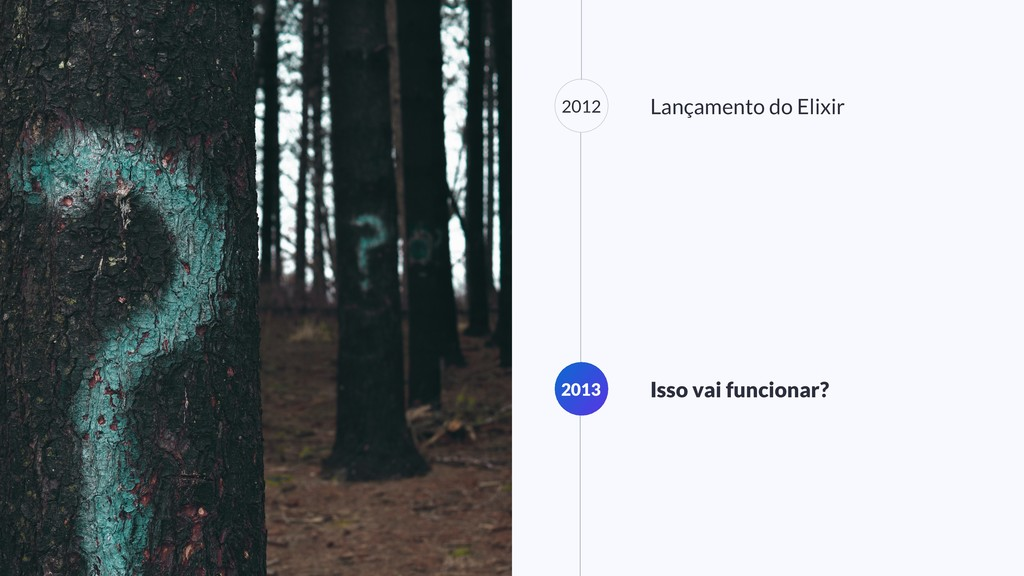 2012 Lançamento do Elixir 2013 Isso vai funcion...