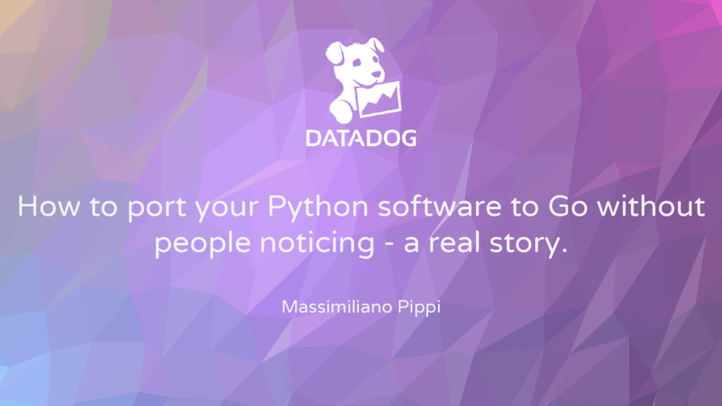 How to port your Python software to Go without ...