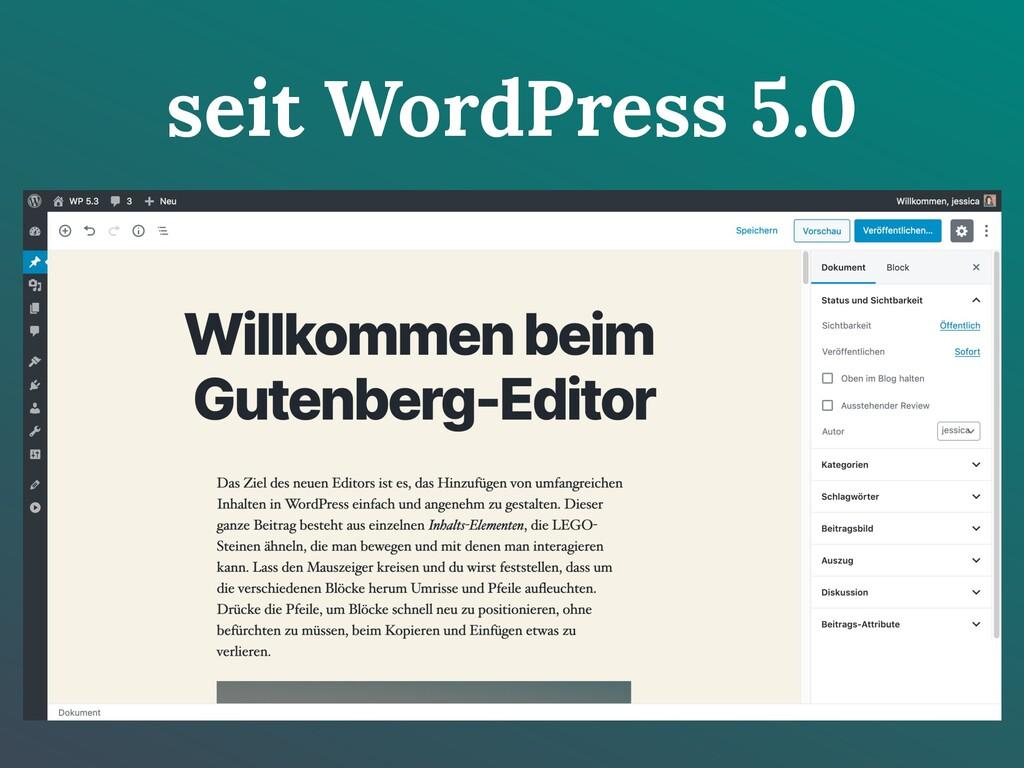 seit WordPress 5.0