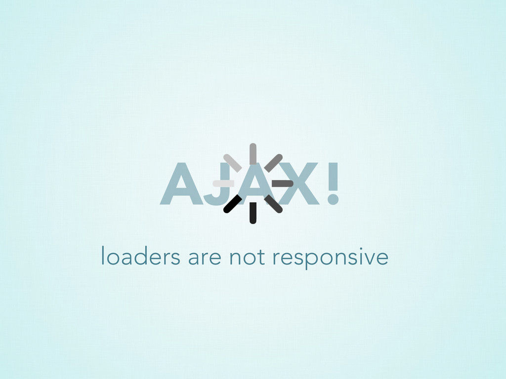 AJAX! loaders are not responsive