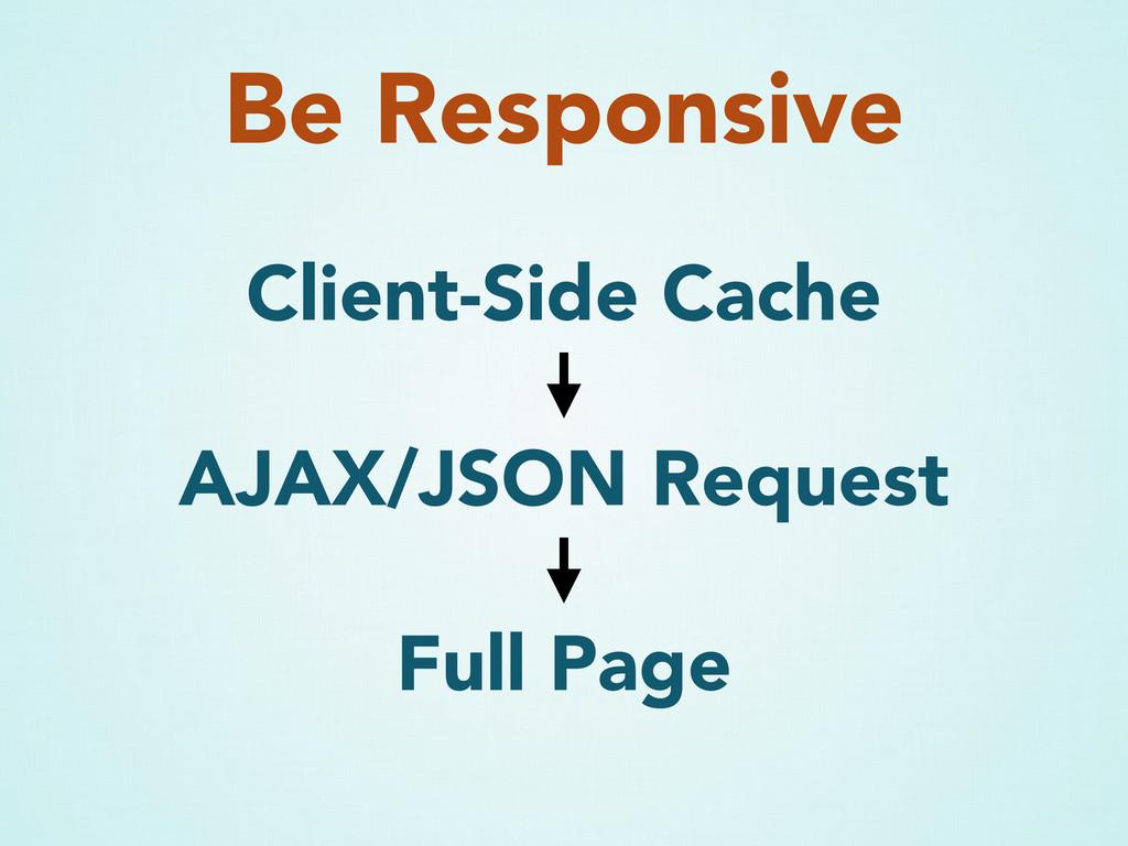 Be Responsive Client-Side Cache AJAX/JSON Reque...
