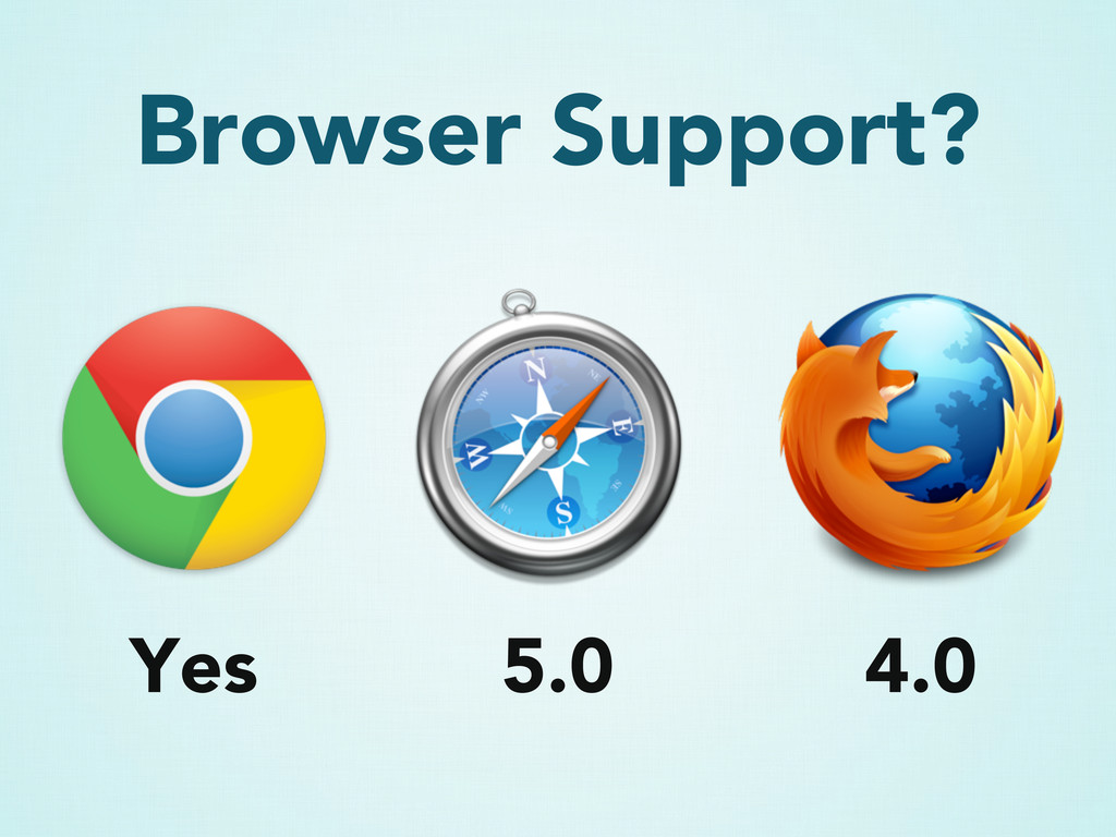 Browser Support? 5.0 4.0 Yes