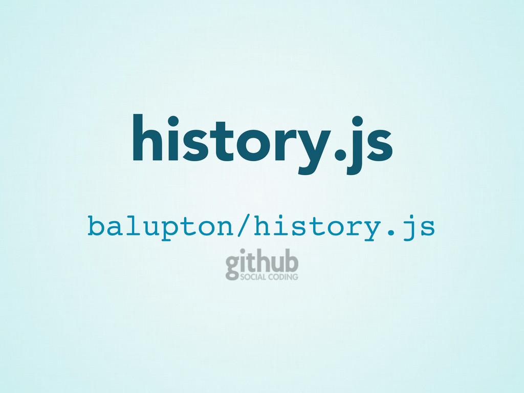 history.js balupton/history.js