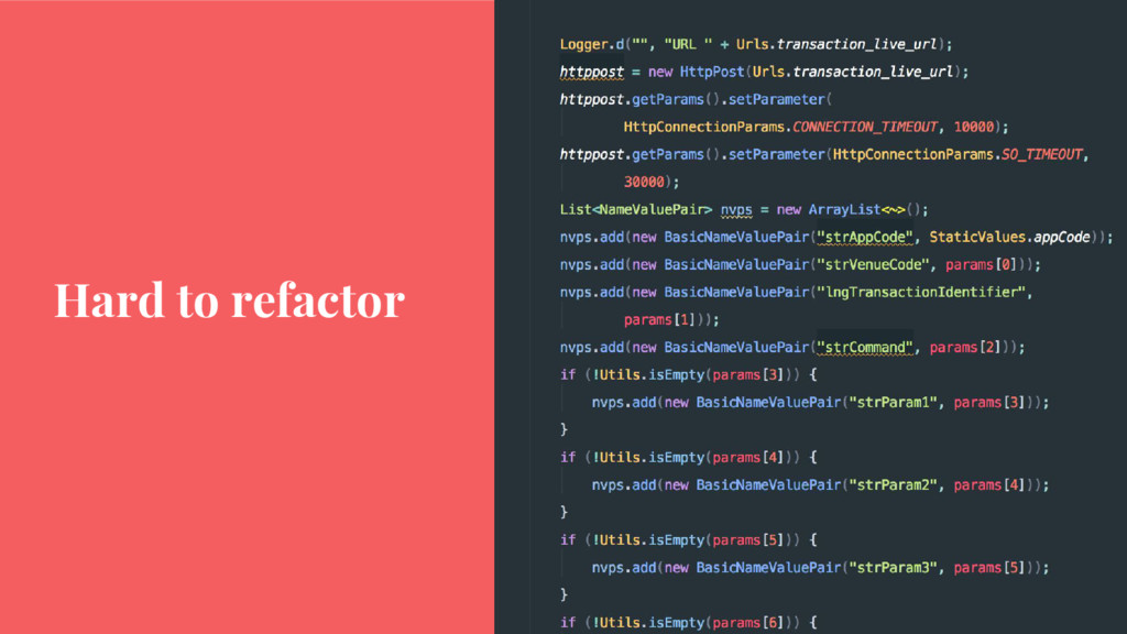 Hard to refactor