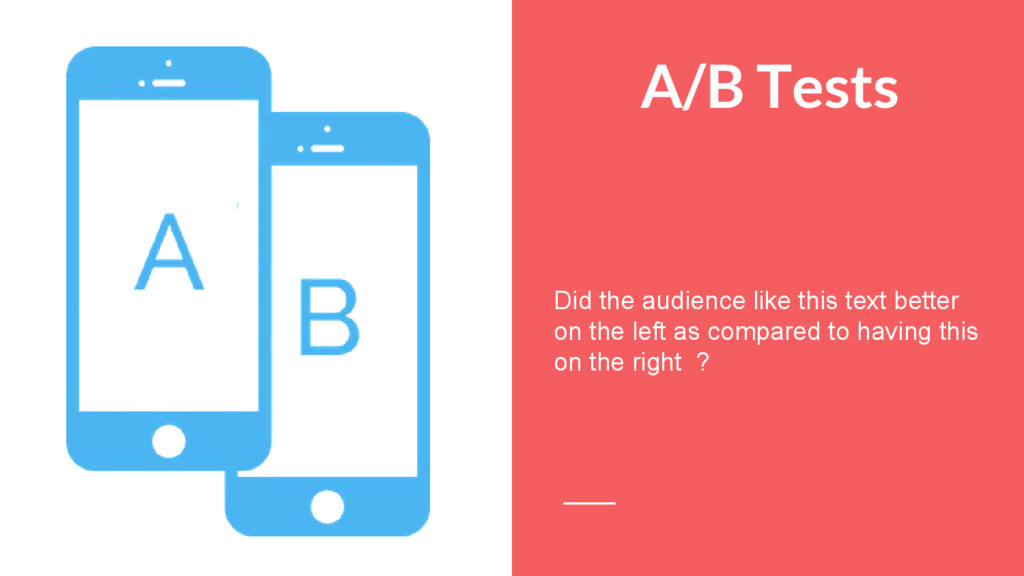 A/B Tests Did the audience like this text bette...