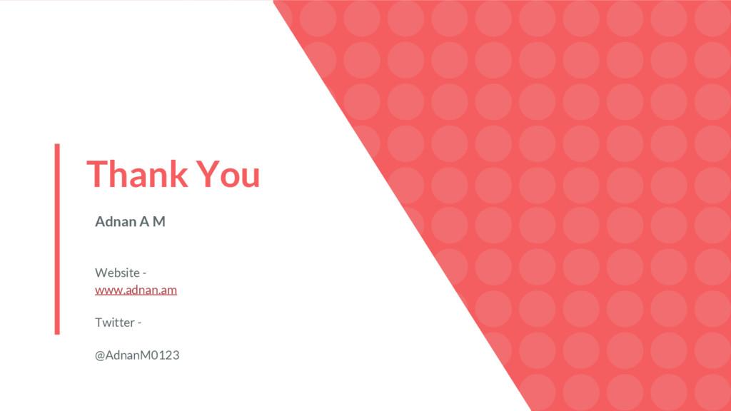 Thank You Adnan A M Website - www.adnan.am Twit...