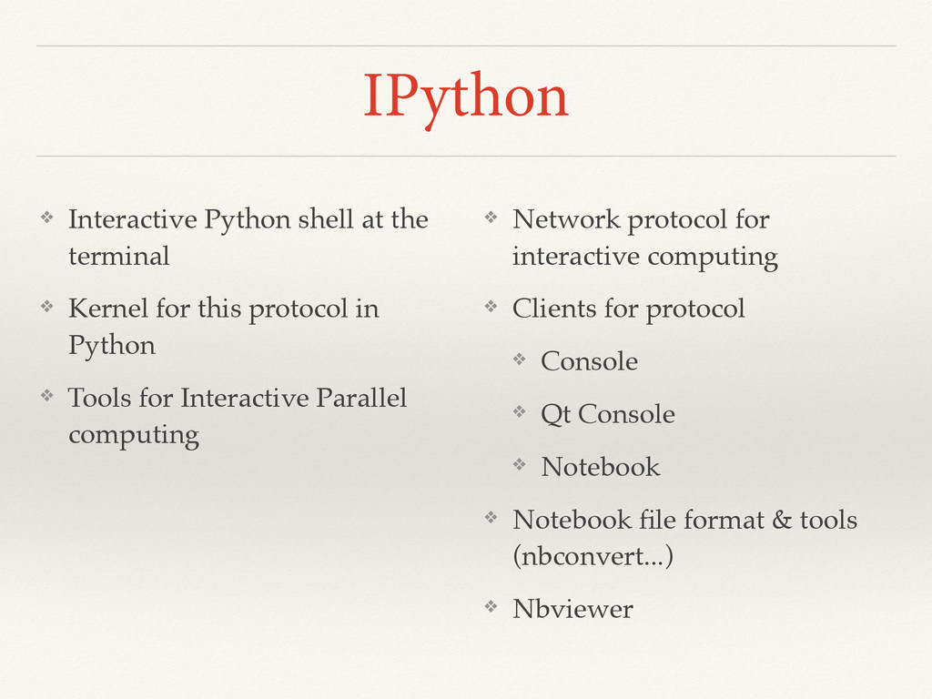 IPython ❖ Interactive Python shell at the termi...