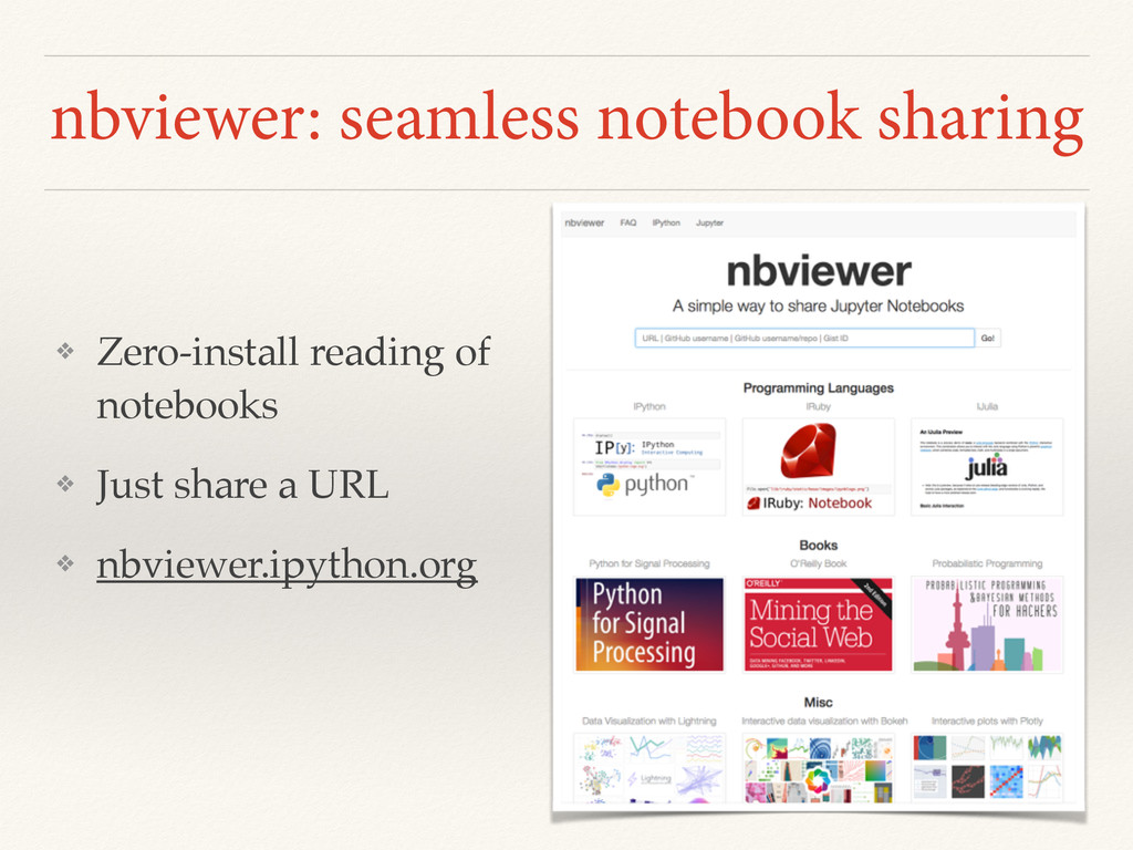 nbviewer: seamless notebook sharing ❖ Zero-inst...