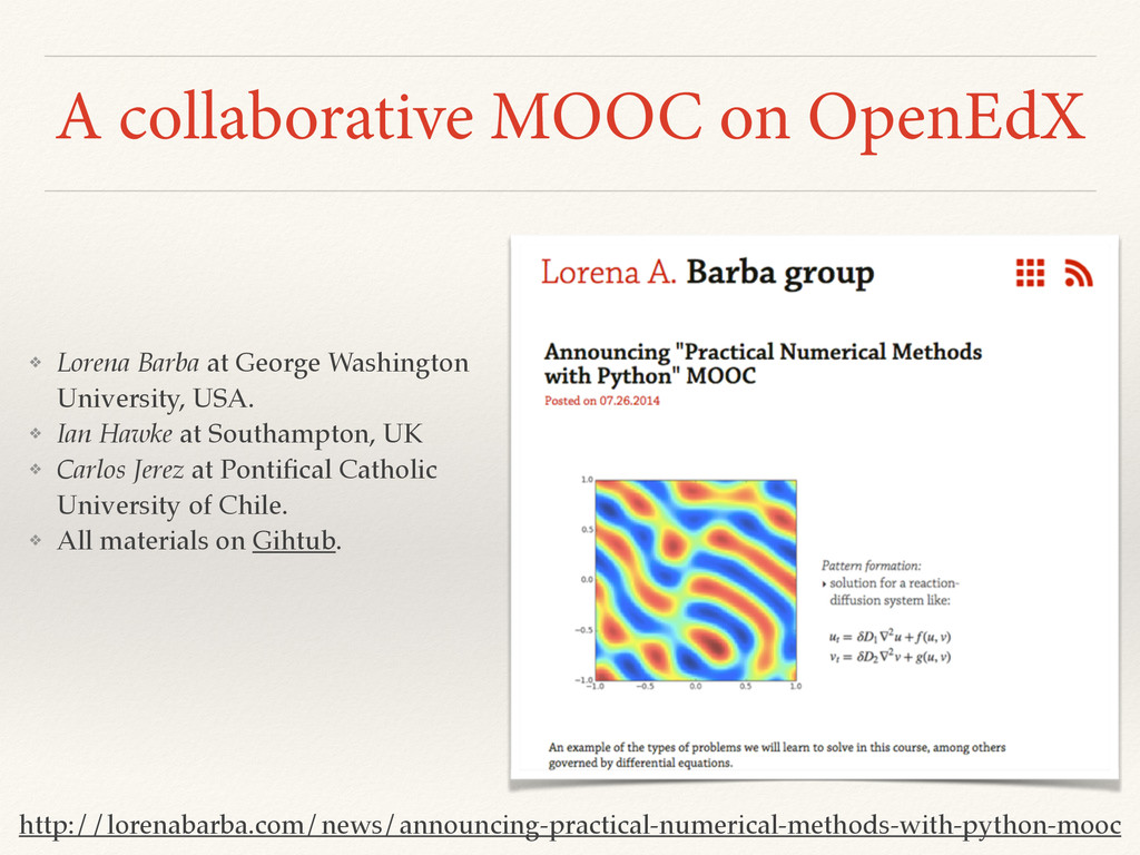 A collaborative MOOC on OpenEdX http://lorenaba...