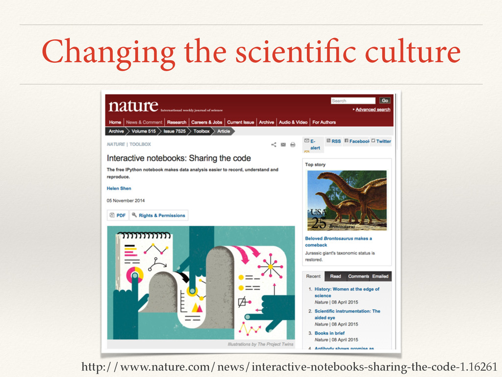 Changing the scientific culture http://www.natu...
