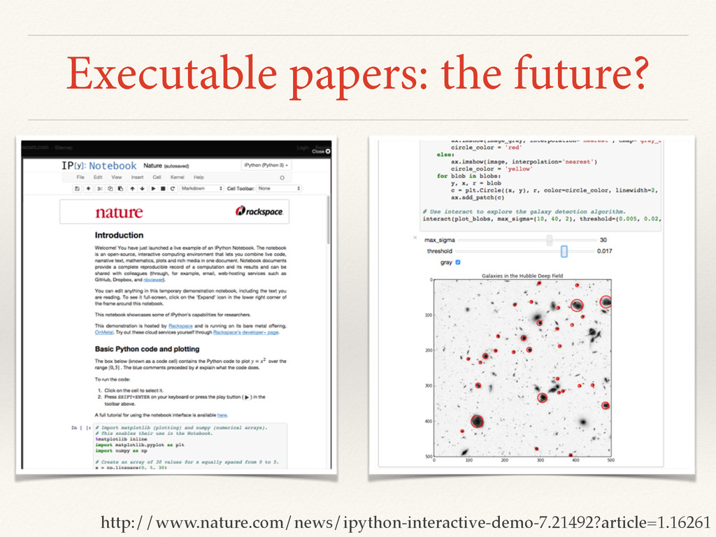 Executable papers: the future? http://www.natur...