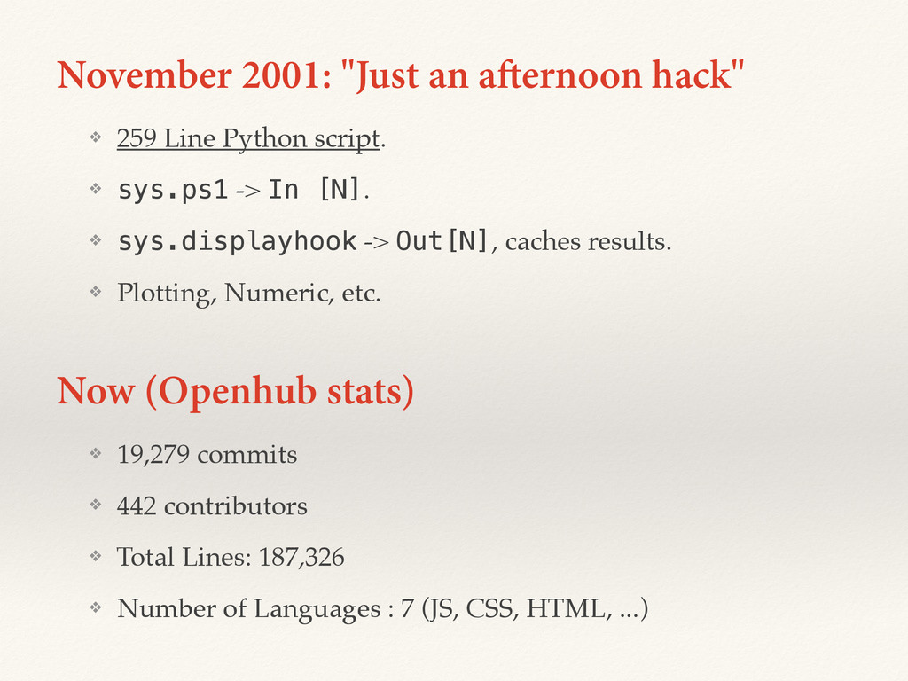 "November 2001: ""Just an afternoon hack"" ❖ 259 L..."