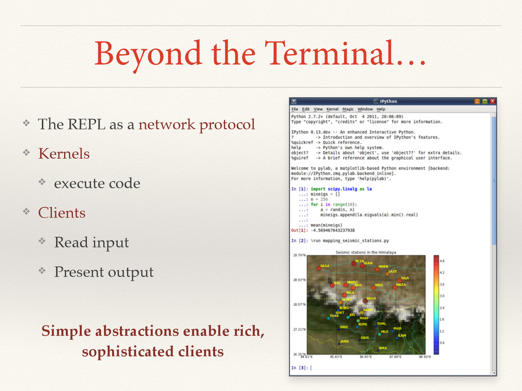 Beyond the Terminal… ❖ The REPL as a network pr...