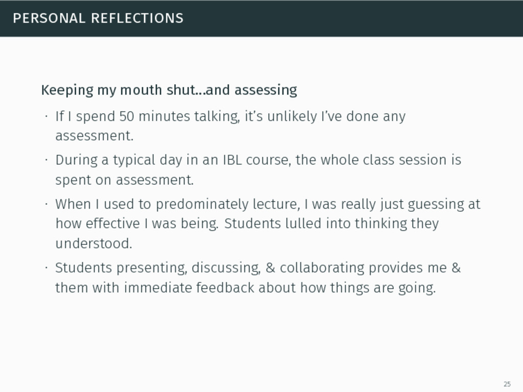 personal reflections Keeping my mouth shut…and ...