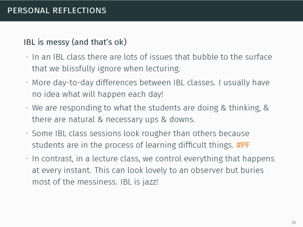 personal reflections IBL is messy (and that's o...