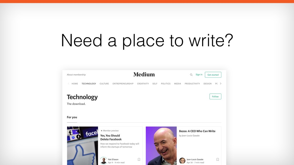 Need a place to write?