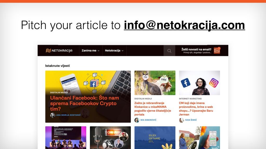 Pitch your article to info@netokracija.com