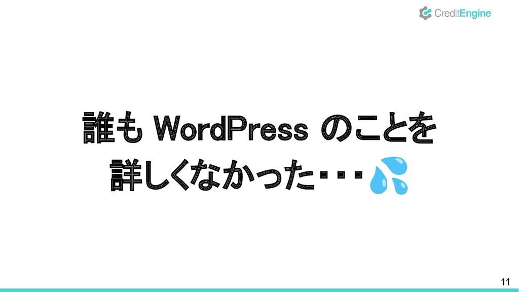 11 誰も WordPress のことを 詳しくなかった・・・💦