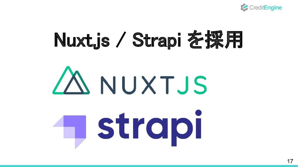 17 Nuxt.js / Strapi を採用