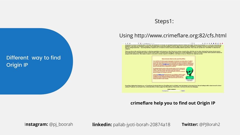 Different way to find Origin IP Instagram: @pj_...