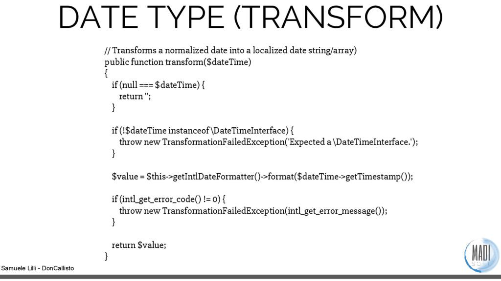 Samuele Lilli - DonCallisto DATE TYPE (TRANSFOR...