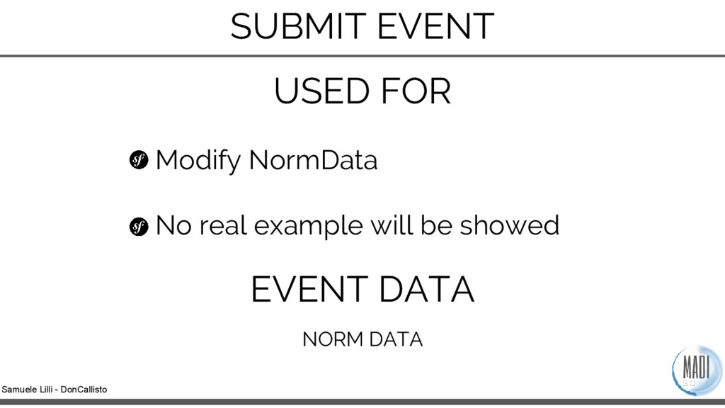 Samuele Lilli - DonCallisto Modify NormData No ...