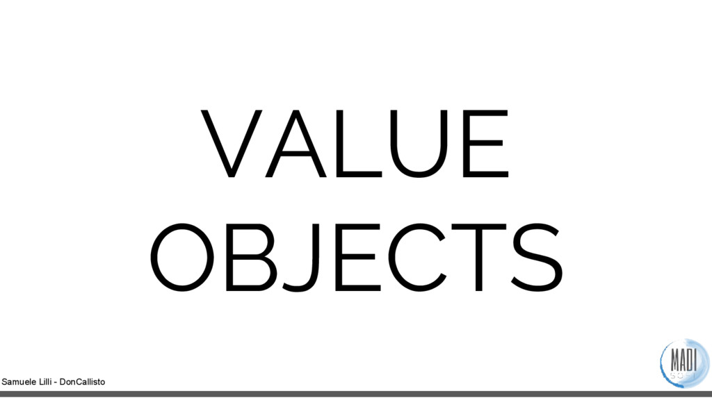 Samuele Lilli - DonCallisto VALUE OBJECTS