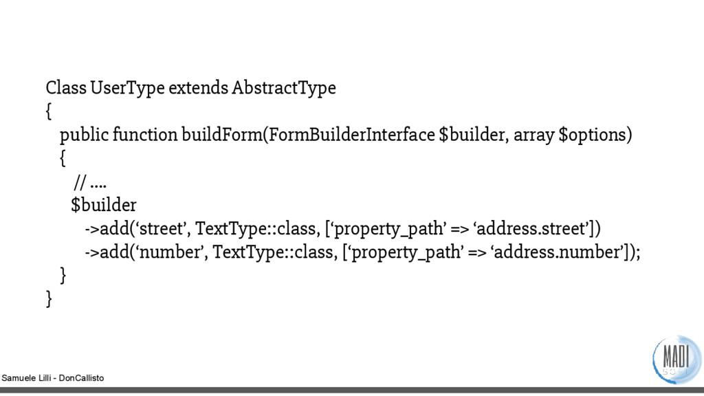 Samuele Lilli - DonCallisto Class UserType exte...