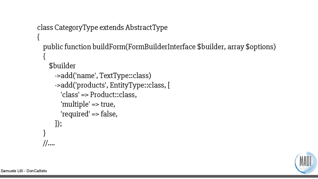 Samuele Lilli - DonCallisto class CategoryType ...
