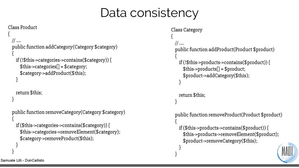Samuele Lilli - DonCallisto Data consistency Cl...