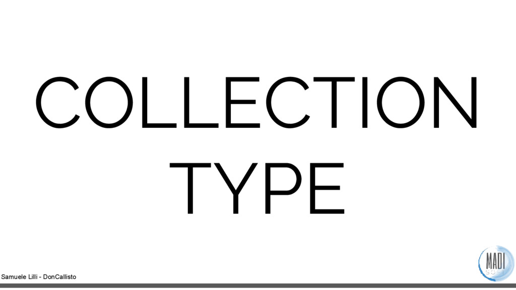 Samuele Lilli - DonCallisto COLLECTION TYPE