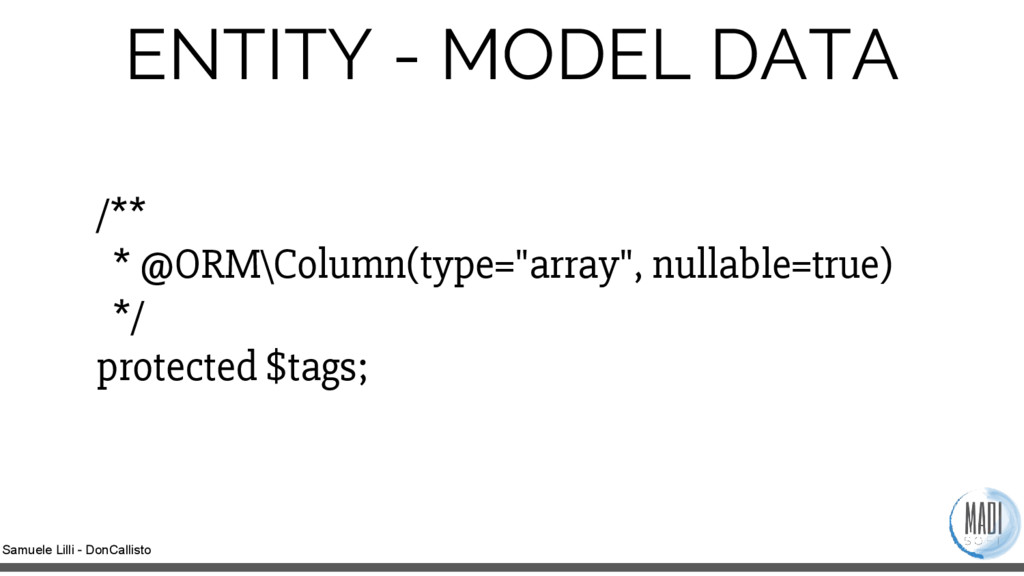 Samuele Lilli - DonCallisto ENTITY - MODEL DATA...