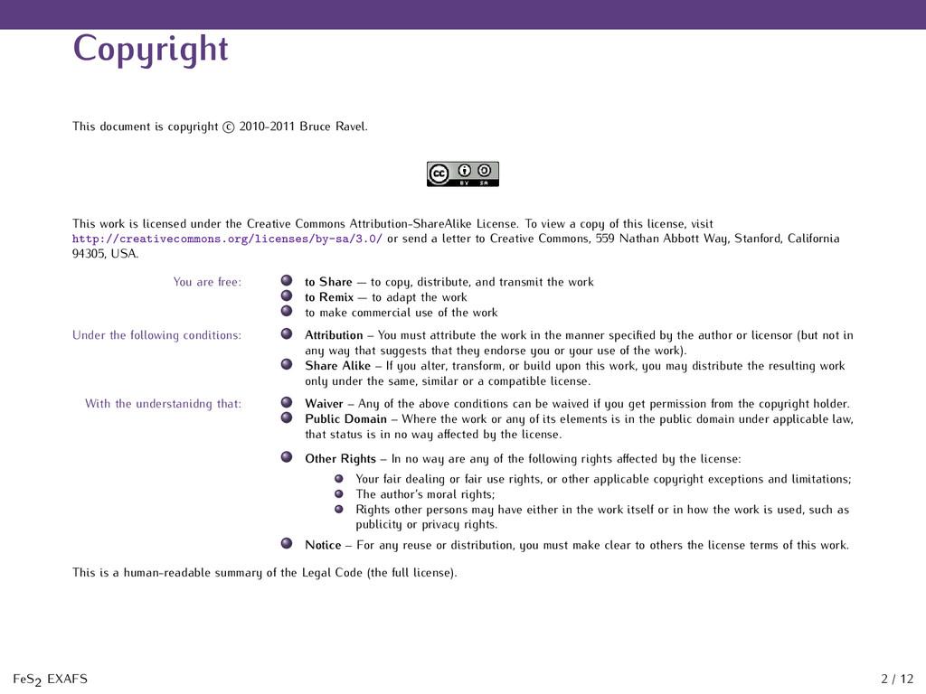 Copyright This document is copyright c 2010-201...