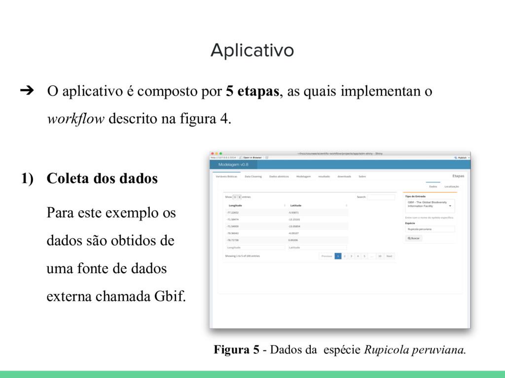 ➔ O aplicativo é composto por 5 etapas, as quai...