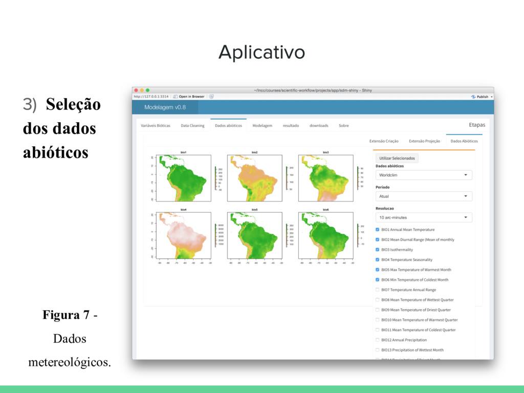 Seleção dos dados abióticos Figura 7 - Dados me...