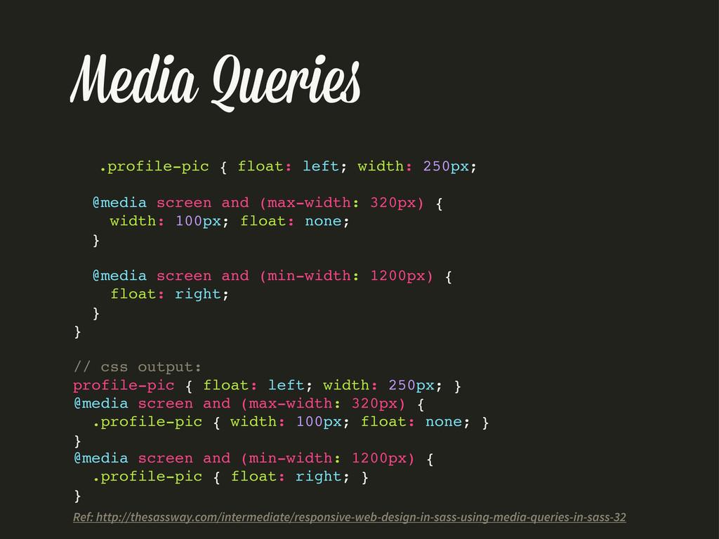 Media Querie .profile-pic { float: left; width:...